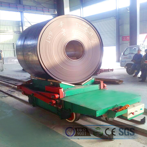 1-300T heavy load electric steel coil transportation trailer for steel plant