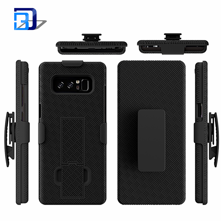 Phone Black Rugged Case Shockproof Holdster With Belt Clip Armor Rugged Stand Cover Armor Kickstand For Samsung Galaxy Note 8