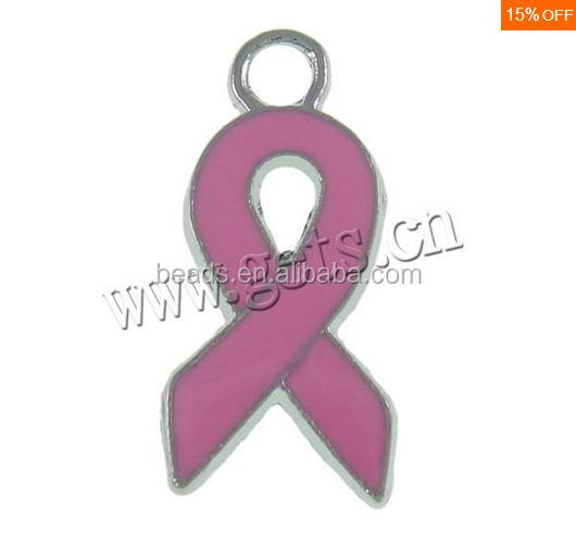 Gets.com Zinc Alloy Enamel Ribbon Cancer Awareness <strong>Charm</strong>