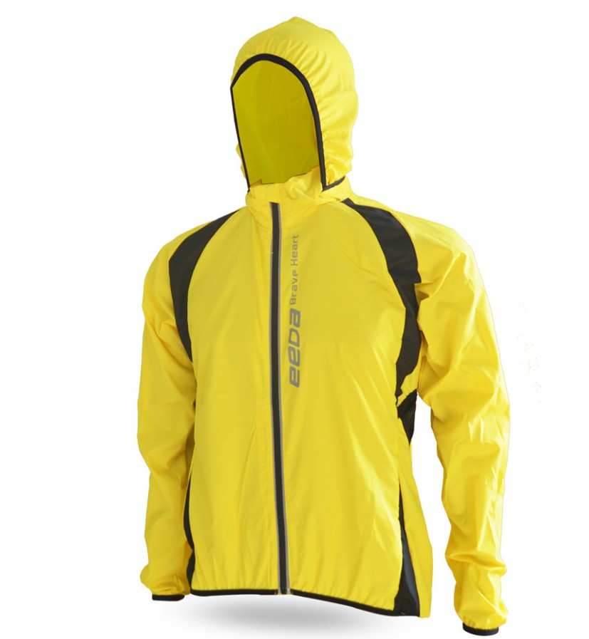 Fit waterproof cycling clothes Training jacket for Men fold bag