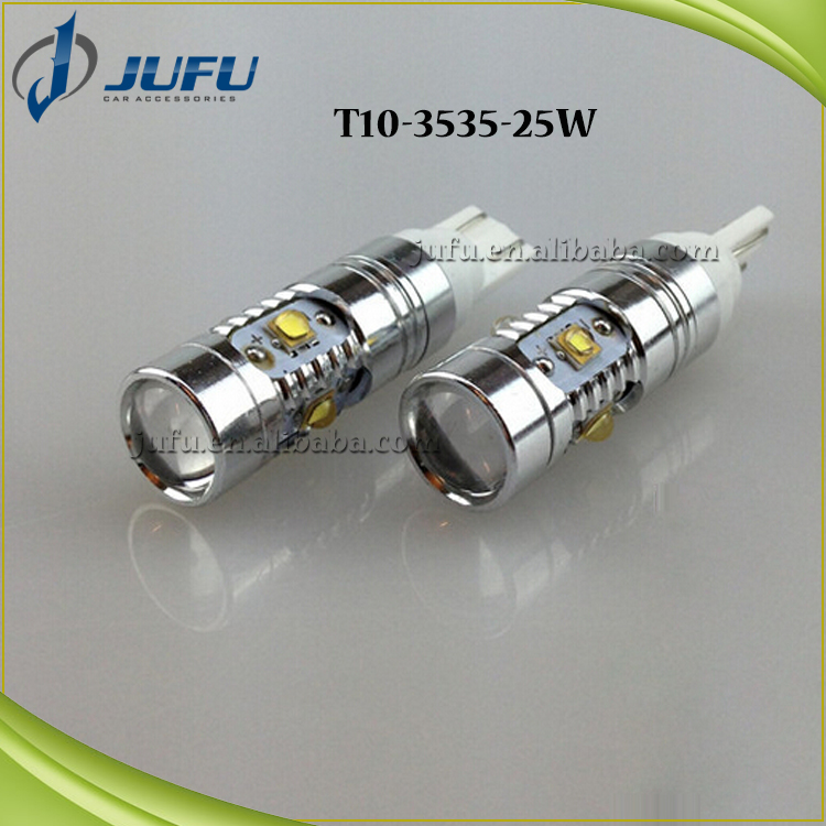 High power super bright 25W T10 3535 5SMD w5w 194 canbus car led light fog light turn light