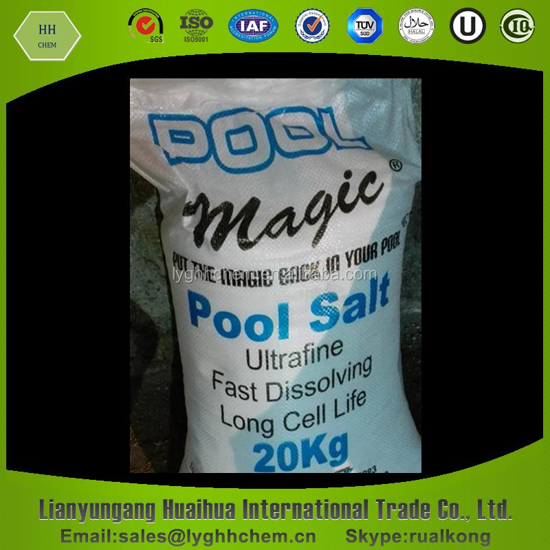 20 kg bolsa de sal piscina sal identificaci n del producto for Cantidad de sal para piscinas