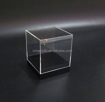 Cube Square Shape Clear Small Acrylic Display Boxes