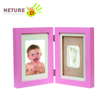 baby handprint and footprint frame kit for newborn baby gift set