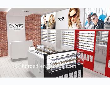 optische shop innenarchitektur 3d der sonnenbrillen ausstellungsmobel