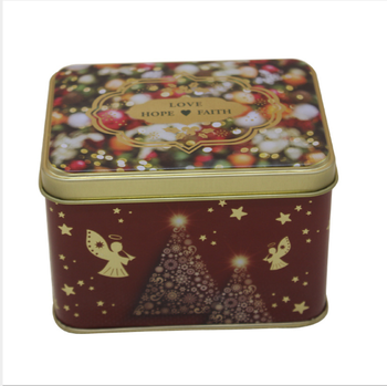 Free Sample Latest Design Superior Quality Square Tin Candy Gift Box