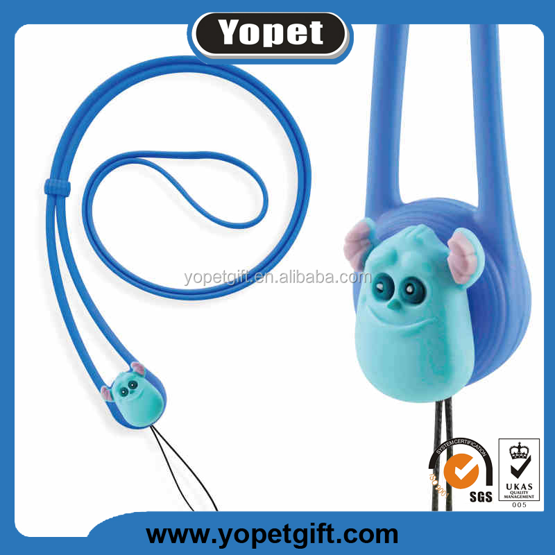 New Arrivals Custom Silicone Mobile Phone Lanyard, Silicone Neck Strap