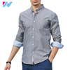 Yihao wholesale men's shirts latest designs for men fashion long sleeve pure color 100% cotton casual men's shirts