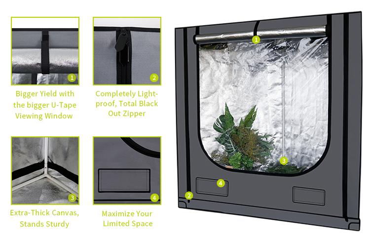 Prezzo All'ingrosso della fabbrica di Qualità Garantita Serra Crescere Tenda Growbox