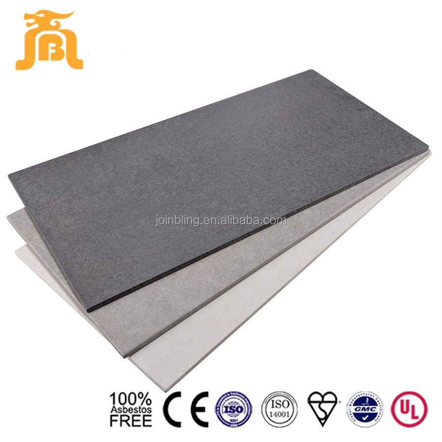 Fiber cement lightweight concrete board black