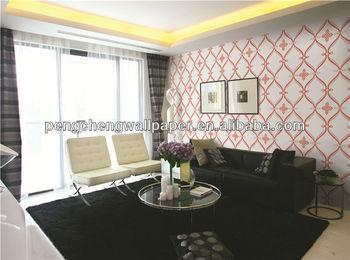 Pengcheng Elegant Black Washable Vinyl Glitter Wallpaper For Living Room Part 64