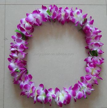 Party purple hawaii fabric lei buy party decoration hawaiian silk party purple hawaii fabric lei mightylinksfo
