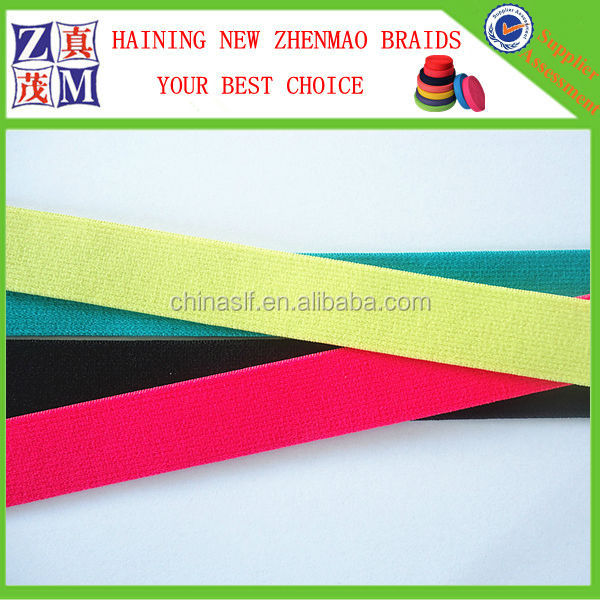 Color elastic band flat nylon webbing for garment accessories