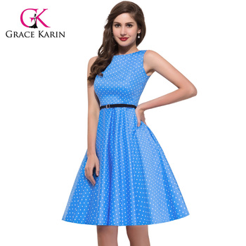 Grace Karin Summer Dresses Women Pinup Retro Robe Rockabilly 50s