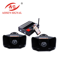 AS-7400 Security electronic compact alarm amplifier siren with wireless remote control siren horn speaker