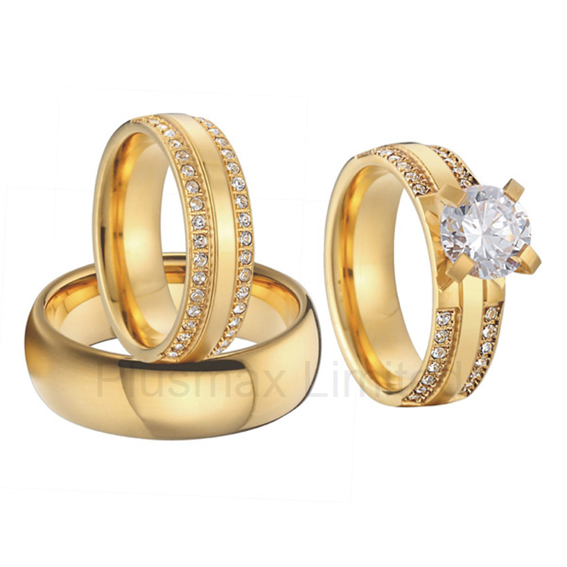 Detail Feedback Questions About Beautiful 3 Pieces Engagement Rings