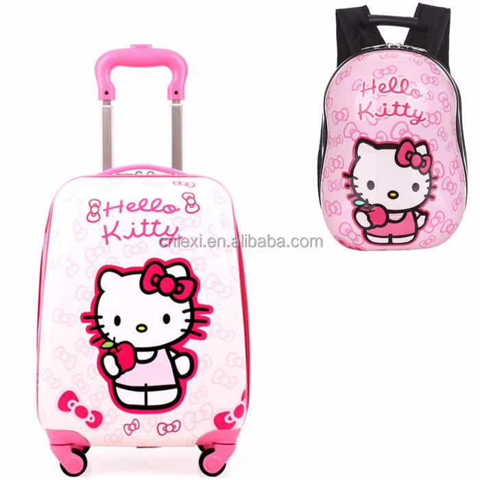 China supplier customized children travelling luggage bag trolley suitcase
