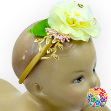 Vintage Baby Hairband Girl Rose Flower Paillette Baby Headband Girls