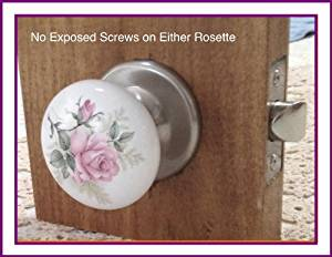 Passage Wonderful Premium Set Engineered to fit all Modern pre-drilled Doors right out of the package Porcelain Ceramic with Brushed Nickel hardware Door Knob Set with many Exclusive Features