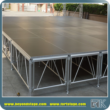 Outdoor Aluminium Portable Wooden Stage Platform With Stairs
