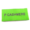 custom center fold damask garment brand jeans woven clothing label woven label woven tag