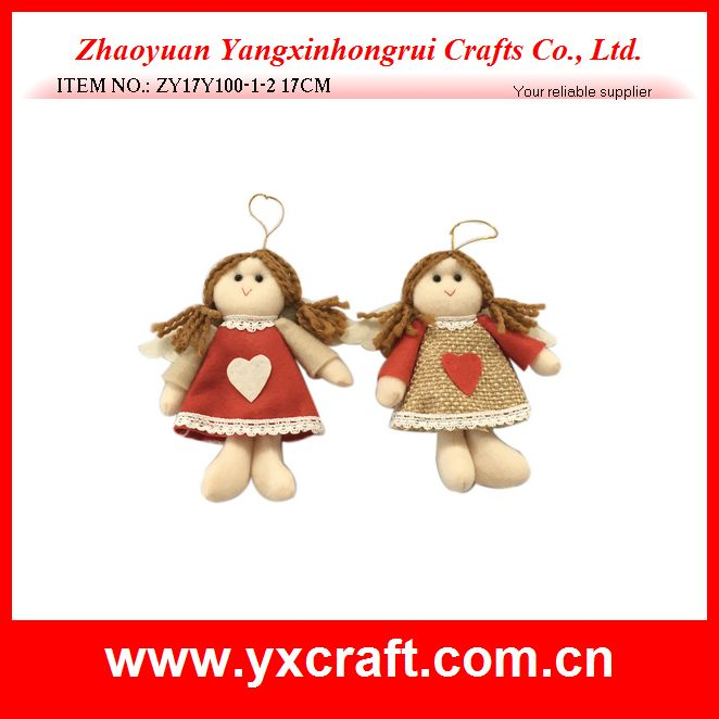 Christmas decoration (ZY17Y100-1-2 17CM) fabric angel product for christmas