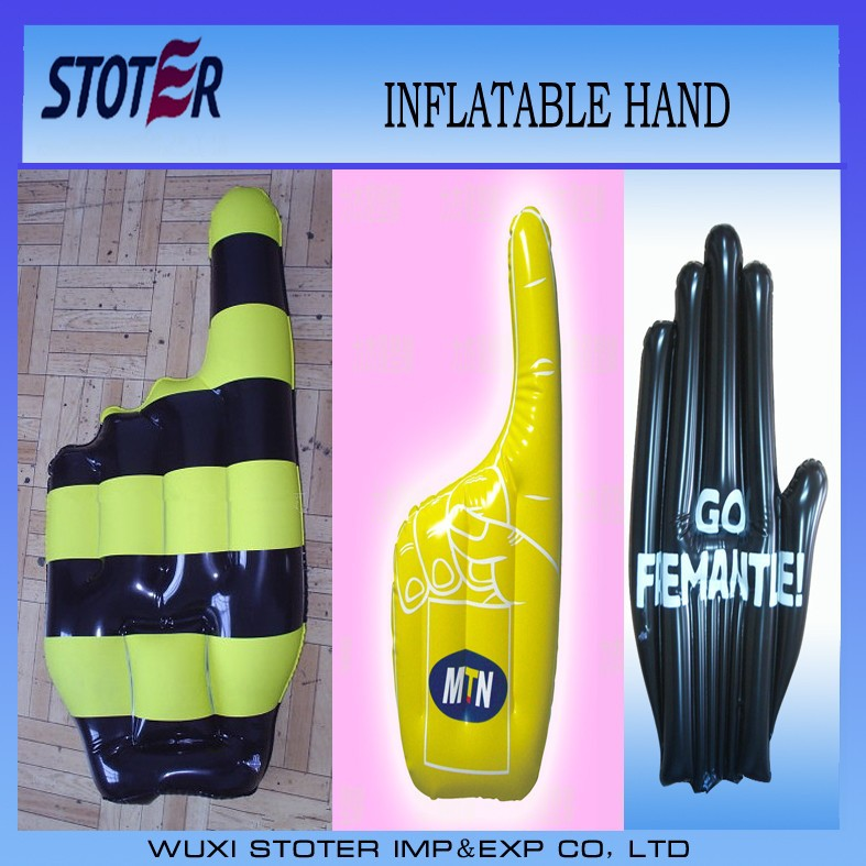 Eco friendly custom inflatable hand, inflatable customized cheering hand for promotion