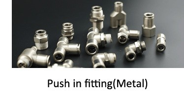 Three  way quick pneumatic joint  Metal push  in fittings