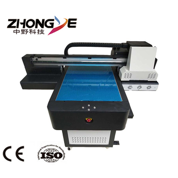 2018 new product Zhongye High Quality 12 colors inkjet A1 6090 uv flatbed printer with 2pcs XP600 TX800 printhead