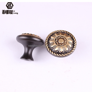 Brass Plated Cast iron/brass copper casting Decorative Cupboard Kitchen Drawer cabinet Pull knob