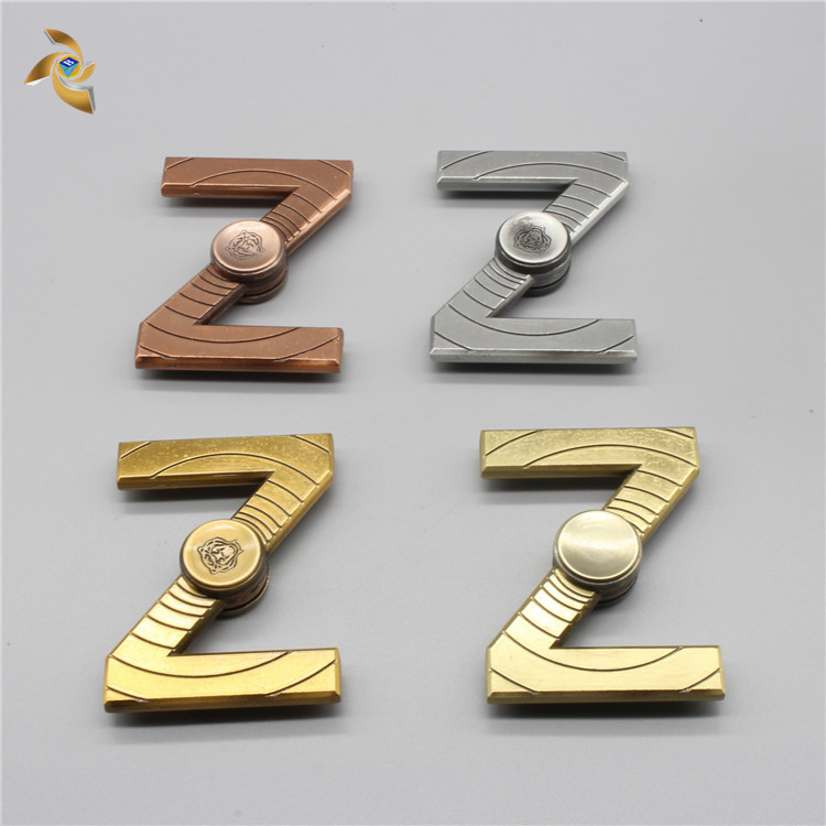 Newest style letter Z shape metal fidget Spinner with factory custom
