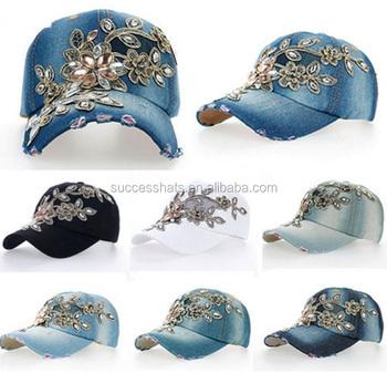 c6fc444d5 Wholesale Alibaba Rainstone Flower Sparkle Bling Baseball Hat And Cap For  Women - Buy Baseball Cap,Rhinestone Wholesale Caps And Hats,Rhinestone Caps  ...