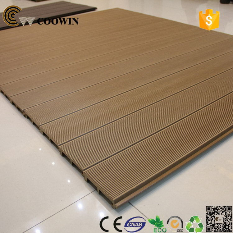 plastic and timber composite coowin 3d embossing solid composite board outdoor