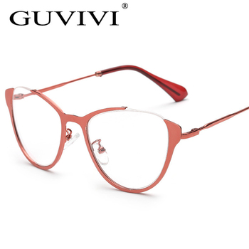 68dc8c9f8a 2016 mujeres gato ojo gafas de marco puede hacer lentes de prescripción de  aleación de Metal