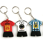 Soft Rubber Keychain 3d Soccer Uniform Embossed Decoration Custom Personalized Promotion PVC Key Holder Wall