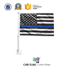 Promotional Thin Blue Line United States Car Flag