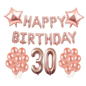 30th Birthday Decorations Party Supplies 30 Year Anniversary Celebration Dirty Thirty Rose Gold Women