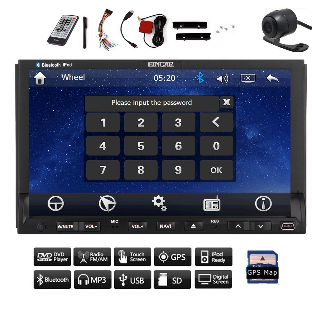 Christmas Sale!!! Auto Radio 2015 Hot Sale double Accessory 2 din HD Capacitive Muilt Touch Deck Screen Car DVD GPS Navigation CD VCD Radio Player 7'' built in Universal Bluetooth Car Stereo