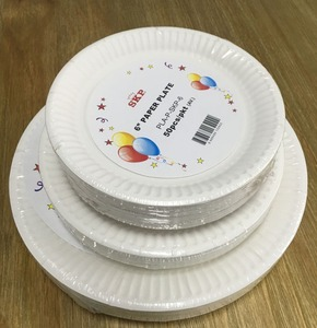 Disposable white paper charger plates wholesale tableware 9inch plate