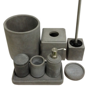 Specialized Concrete Home Decoration Handmade Antique Vintage Bathroom  Accessories Sets From Factory