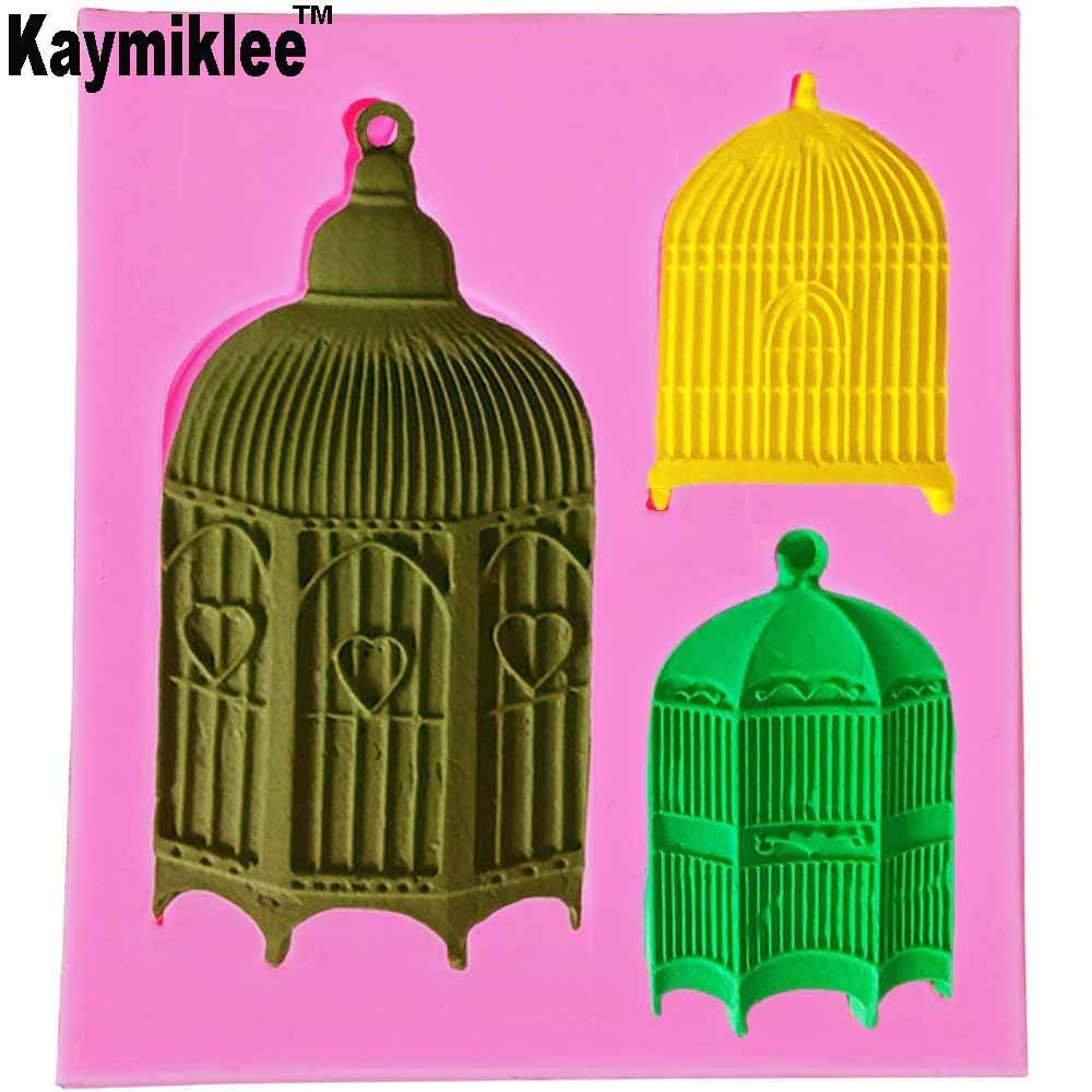 M932 Birdcage Design Fondant Silicone Cake Molds Tools Soap Chocolate Mould Silicone Bakeware Cake Decorating Tools NEW PRODUCT