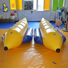 0.9mm PVC Inflatable Flying กล้วย Water Tube Towable