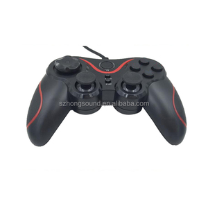 USB Wired Computer Game Controller Double Shock Vibration Joystick for PC