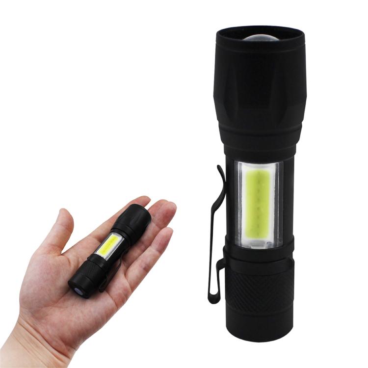 Aluminium Metall Mini Splitter beste qualität Xpe Taschenlampe licht Gummi Grip Billig Tasche wiederaufladbare Tauchen cob Taschenlampe