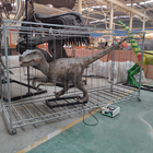 Robotic Animal Robot OAJY0033 Zigong Animated Dinosaur Robotic Velociraptor In Cage