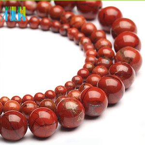 Italy natural coral picasso gemstone round agate loose beads