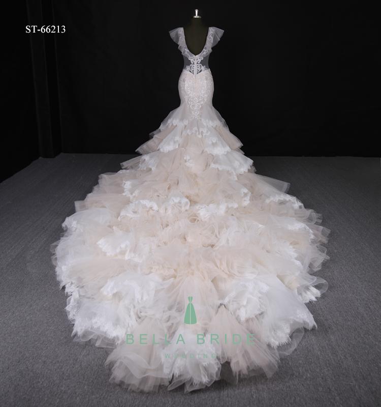 Latest Fashion Wedding Dress 2017 Luxury Lace Mermaid Bridal Gown