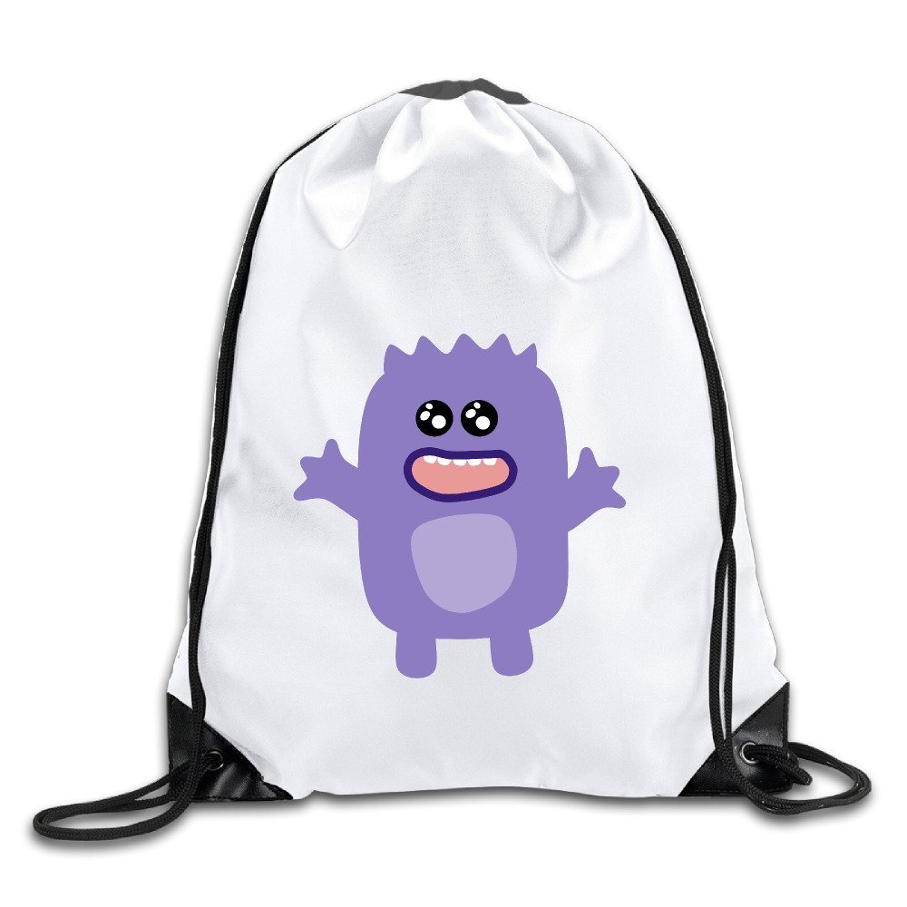 b355c4ff53c Get Quotations · Discovery Wild Purple Monster Polyester Drawstring  Backpack Tote Sport Bag Home Travel Sport Storage Use