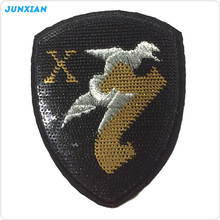 High quality latest arrival vintage custom logo shiny 3D patch sequin embroidery