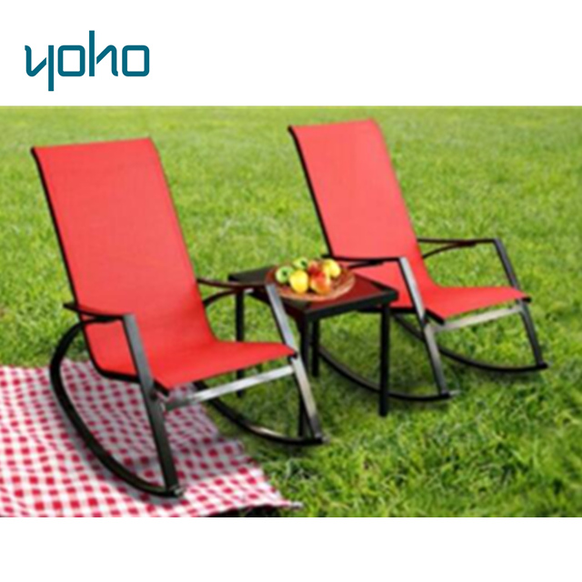 New design patio rocking chair set outdoor 3pcs rocking chair